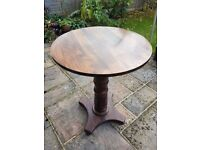 SOLID OAK TALL PUB TABLES AND STOOLS