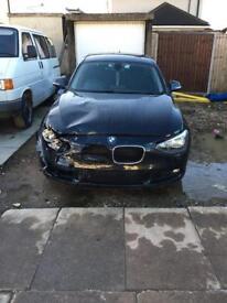 Damaged BMW 116I SE turbo