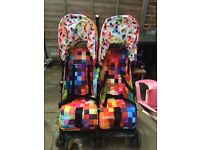 Cosatto pixel double buggy pushchair