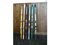 6 Pairs of second-hand Skis complete