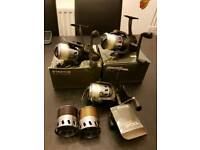 X3 fox Stratos 10000 reels bait runners will swop for gold jewellery