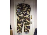 NO LIMITS GREEN CAMO TEXTILE MOTORCYCLE TROUSERS 228