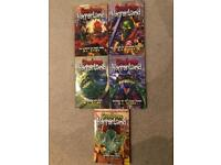 Set 5 GOOSEBUMPS Horrorland paperback books by R L Stein -numbers 1,2,4,12 & 15
