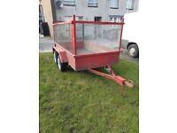 8x4 twin axle builders trailer