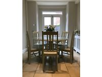 Beautiful kitchen table and six chairs