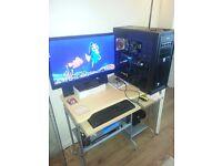 i5 3570k 3.4ghz 16GB RAM GTX 970 4GB G1 Gaming MSI Z77A 250ssd 1TB HDD 1000watt PSU 2K Monitor
