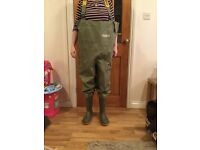 Ocean heavy chest waders - studded - Size 8 , waist size 48ins