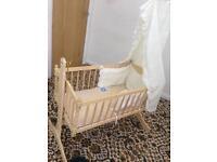 As new swinging baby crib rocker
