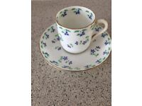 Vintage china Jackson Gosling small coffee/espresso cups and saucers