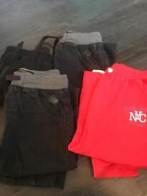 4 pairs tracky bottoms/ combats