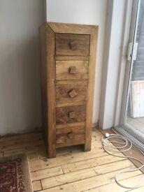 Beautiful solid mango wood chest of draws