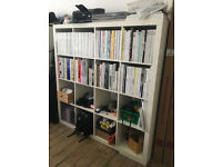 2 x white Ikea KALLAX bookcases