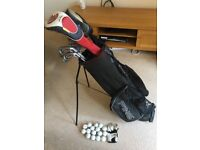 Golf clubs with Ping Bag