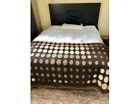 Double Divan Bed with Underbed Storage, Mattress & Headboard
