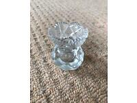 Miniature crystal vase