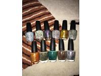 Mini lot of OPI nail polishes X11 bottles