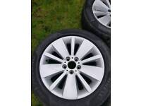 "Alloy wheels set 18"" with tyres."