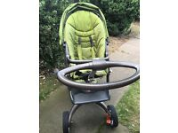 Stokke Xplory +Carrycot + Accessory kit (Olive green colour)