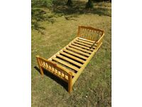 Wood bed frame - junior