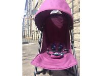 sale easy travel very light stable purple CUGGLO UMBRELLA PRAM easy to fold and set up