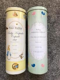 2x baby keepsake capsules NEW. £5 for both!