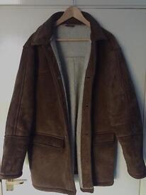 BHS Men's Sheepskin coat MEDIUM