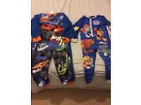 Two boys onesies pyjamas 5-6