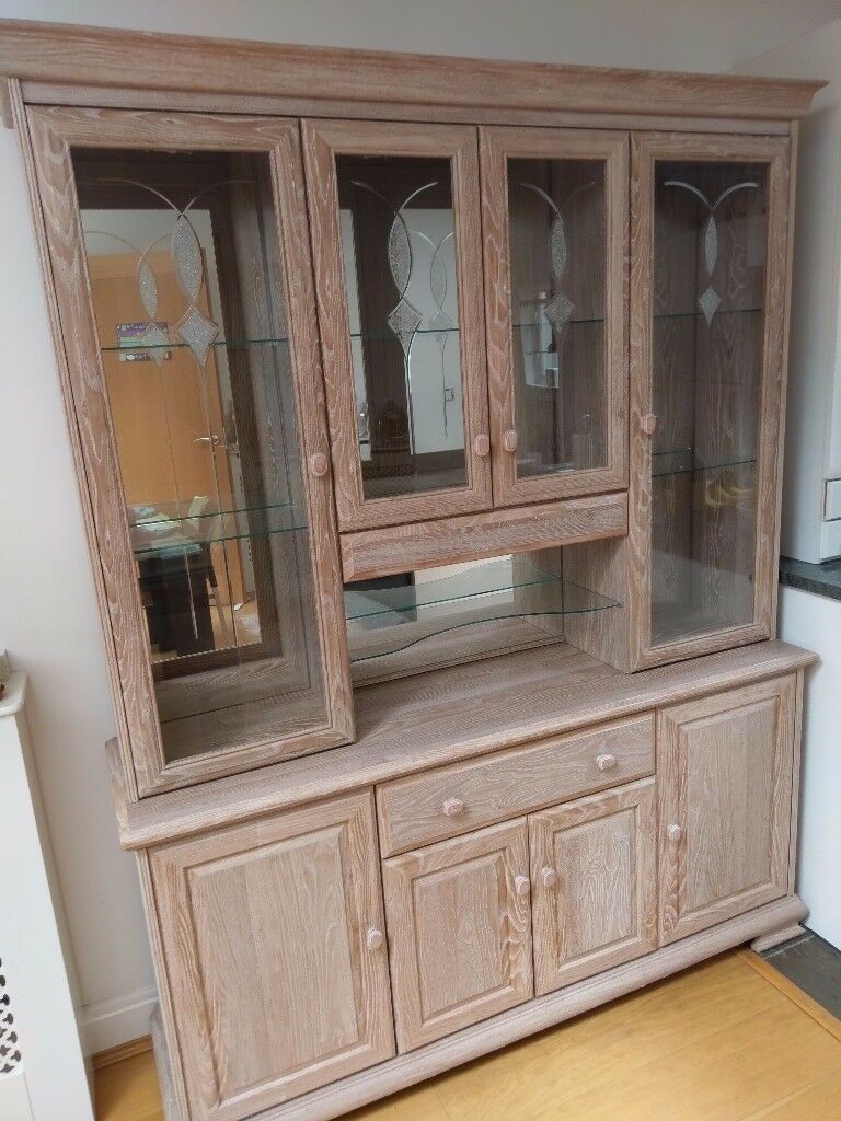 Used Kitchen Dining Room Display Cabinet For Sale