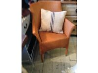 LLOYD LOOM ARM CHAIR VINCENT SHEPPARD SAND COLOUR CONSERVATORY LIVING ROOM
