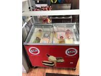 Ice cream fridge holds 10 flavours