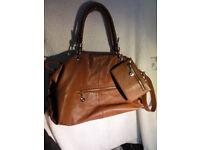 Jimmy Choo Leather Shoulder Bag Hand Bag Handbag with Purse (also one Prada, Chanel, Michael Kors)