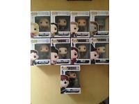 9 rare Once upon a Time Funko Pops £50 B24