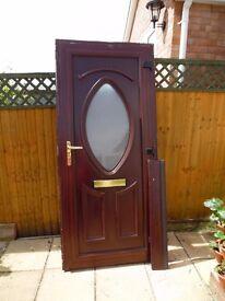 MAHOGANY DOUBLE GLAZED UPVC FRONT DOOR