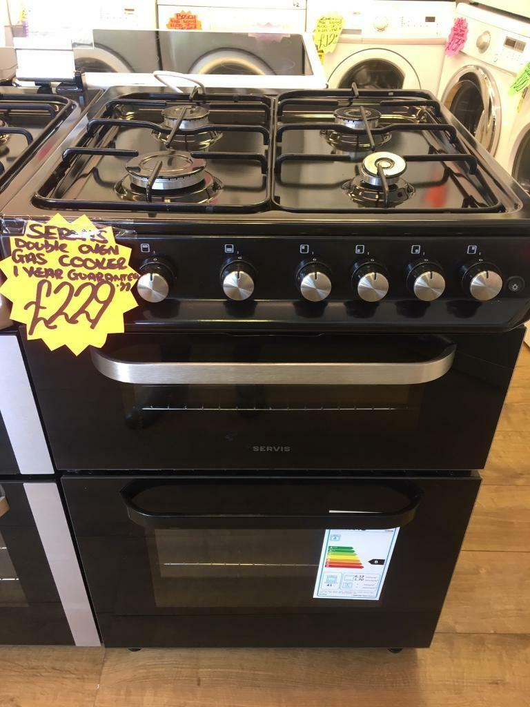 SERVIS 60CM BRAND NEW ALL GAS COOKER IN BLACKin Bransholme, East YorkshireGumtree - SERVIS 60CM brand new all gas cooker• 60cm wide • Brand new • all gas cooker • double oven and grill • in black • fully complete • guaranteed • less than 1 year old all our items are in perfect condition and in perfect working order...