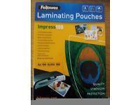100 micrones laminator pouches