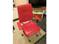 Next_U executive red leather chair, very good condition, adjustable, comfy, BARGAIN!!