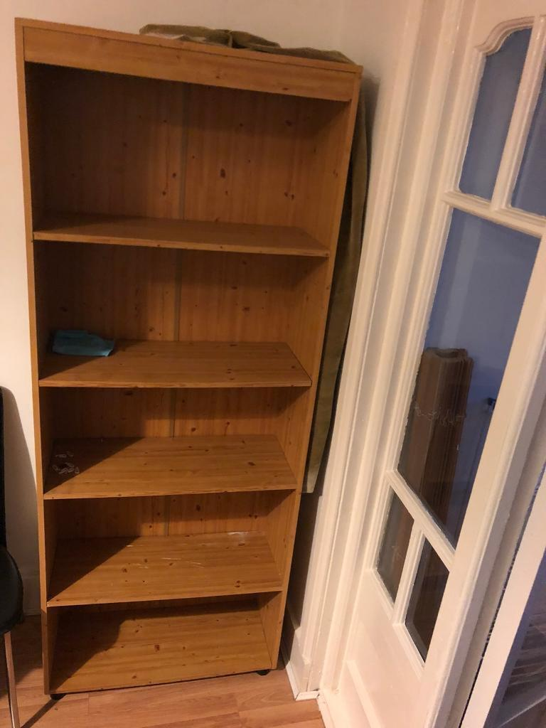Book Case Solid Oak Wood Bookshelf In Perfect Condition