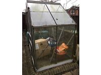 Greenhouse - Free 6x4 approx, needs 3 bits of glass. Needs a clean and dismantling but free.