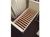 Cot size bed excellent condition with mattress like new
