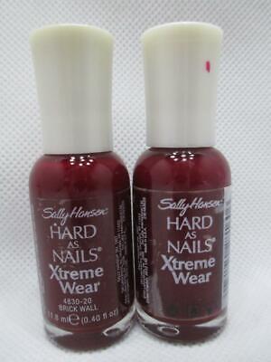2 Sally Hansen Hard as Nails Xtreme Wear 20 Brick Wall Nail Polish NOS