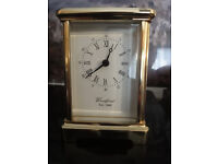 Woodford Brass Carriage Clock battery operated solid brass AS NEW
