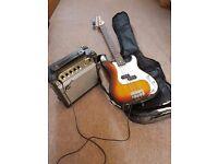 Gear 4 Music Bass Guitar and Amp