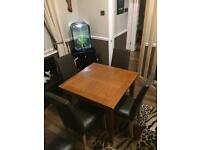 Oak extending / extendable table and chairs