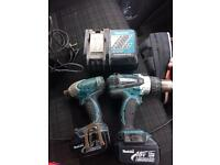 Makita 18v Drill and impact gun