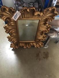 Gold decorative mirror