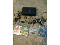 Ps2 console with 4 games