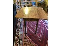 Victorian antique mahogany drop leaf table
