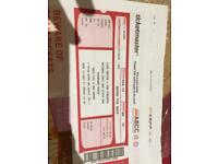 Two tickets for sale