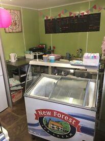 Vintage ice cream & waffle parlour ~ shop building