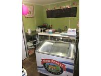 Vintage ice cream & waffle parlour ~ shop building